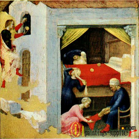 Quaratesi Altarpiece - St. Nicholas and three poor maidens.