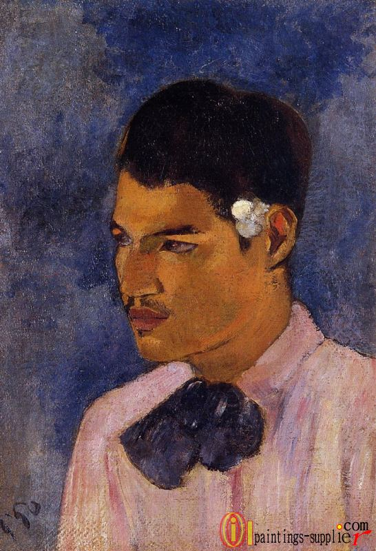 Young Man with a Flower