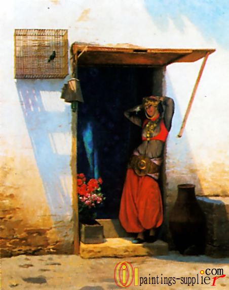 Woman of Cairo at her Door,1897