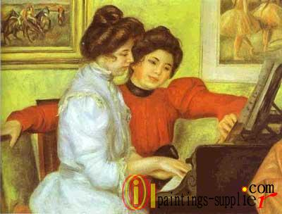 Yvonne and Christine Lerolle Playing the Piano, 1897.