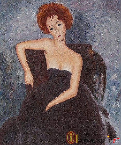 Young Redhead in an Evening Dress, 1918