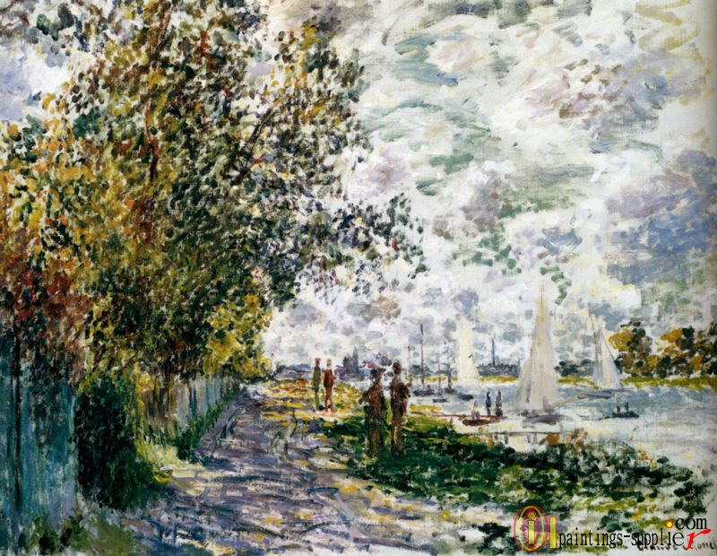 The Riverbank At Gennevilliers